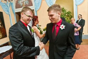 Svědek ženicha a zároveň můj bratranec.