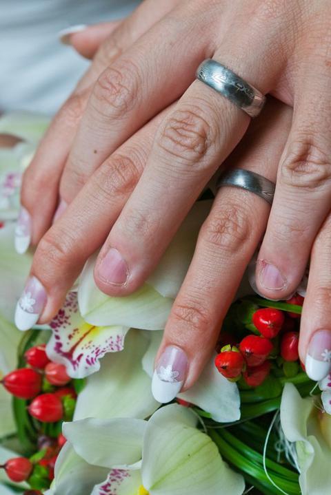 Katka{{_AND_}}Adolf - Naše prstýnky z damaškové ocele.