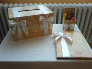 mnou vyrobené kniha hostů, krabička na přání