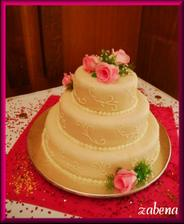 ve skutečnosti byl svatební dort úplně jiný, i když pěkný, ale byli jsme zklamaní
