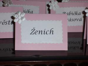 jmenovky na stůl asi takhle, ale ve vínové