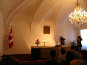 Obřadní síň/ Ceremony hall