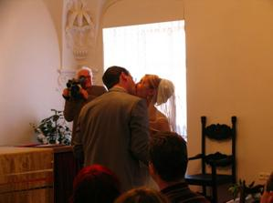 První manželský polibek/ First kiss as husband and wife