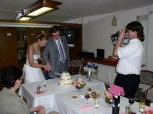 Krájení dortu/ Cutting of cake