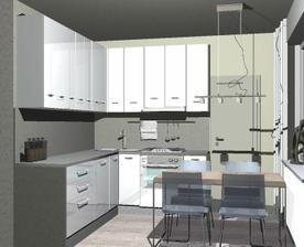Moja pôvodne navrhnutá kuchyňa, dodnes ľutujem, že tak nevyzerá :-)