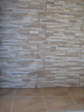 2013 - obklad TV stena + pec