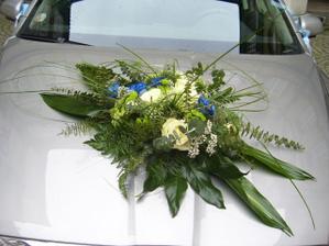 ze svatby kamarádky - modro žluté autokorzo