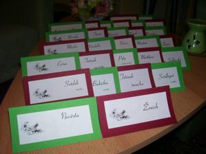 jmenovky na stůl