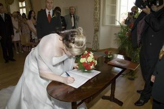 Druhy podpis - nevesta