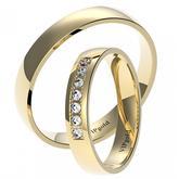 Svadobné obrúčky 7436 - žlté zlato