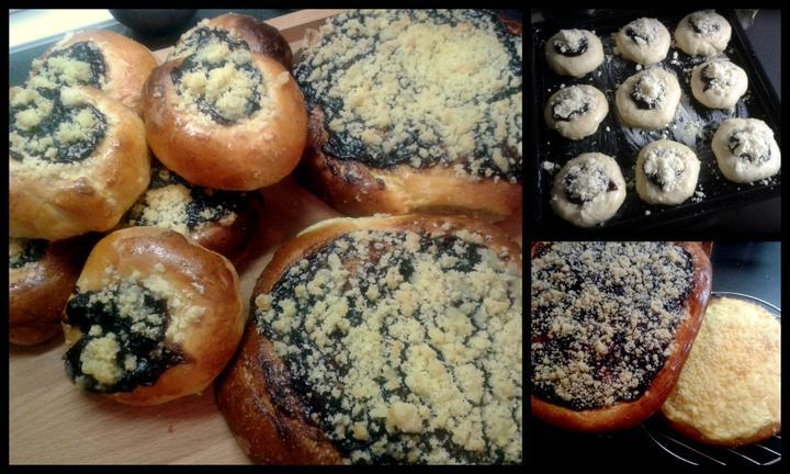 V kuchyni? - Dnešní výkon, dvakrát plněné moravské koláče a povidlový a tvarohový frgál..