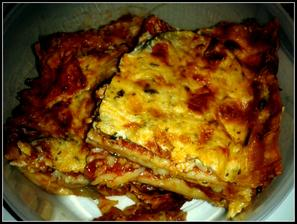 Lasagne bolognese s cuketkou