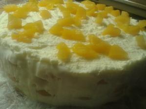 Jogurtovo-tvarohový dortík s braskvemi