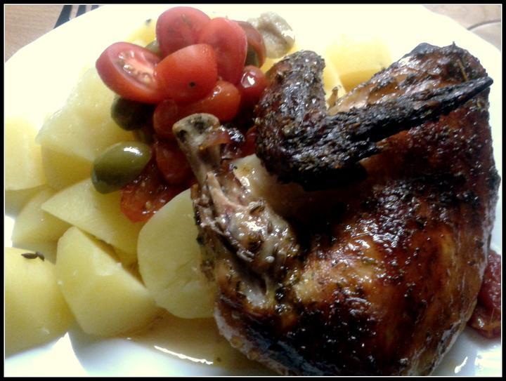 V kuchyni? - tisíc a jedna variace na pečené kuře... kuře tak trochu alá itálie...