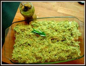 filé s bylinkovou krustou a pestem