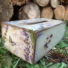 levanduľová krabica na servítky vo vintage štýle :)
