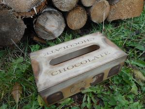 krabička na servítky s motívom kávy a čokolády, podľa želania zákazníčky hotová :)