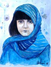 Stratená - akvarel