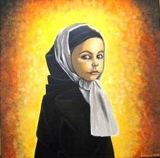 Dievčatko - akryl na plátne