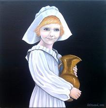 Klára - akryl na plátne