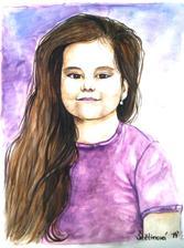 Detská zvedavosť - akvarel