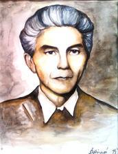 Starý otec - akvarel