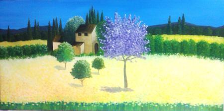 La bella Toscana - olej na plátne
