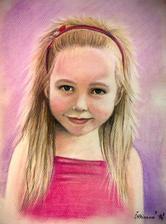 Malá princezná - pastel