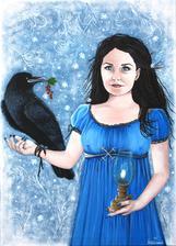 Bohyňa Morena - akryl na plátne