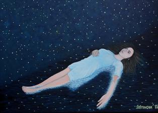Dotknúť sa hviezd... - akryl na plátne