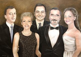 Rodinný portrét - kombinovaná technika