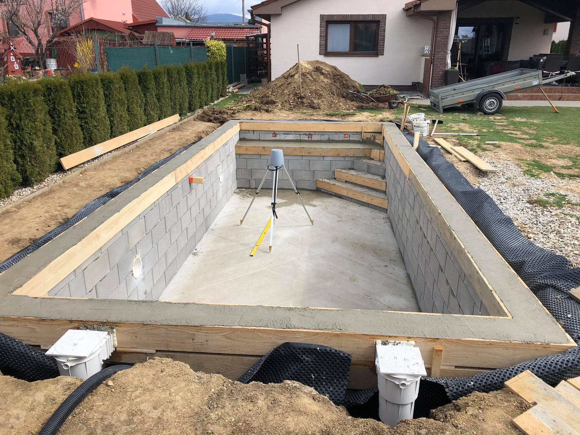 murovany bazen 9x4 svojpomocne - Obrázok č. 3