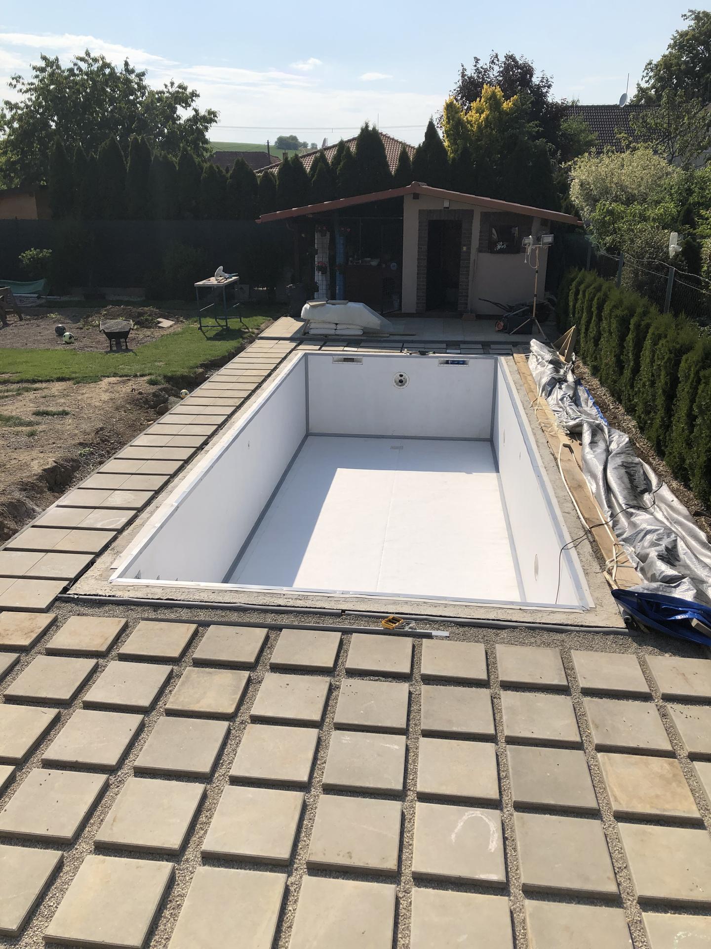 murovany bazen 9x4 svojpomocne - Obrázok č. 4