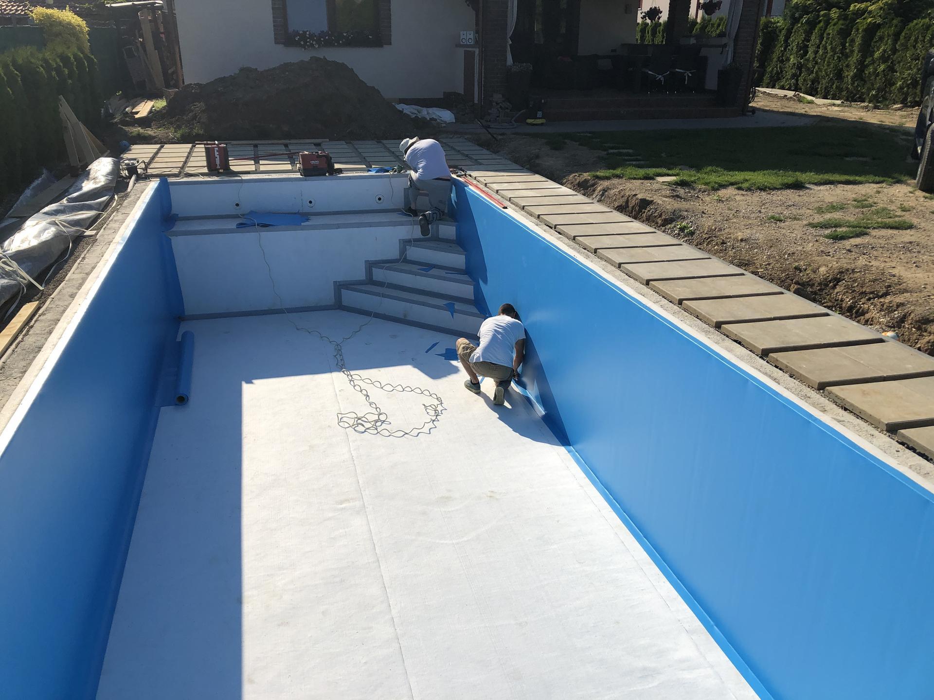 murovany bazen 9x4 svojpomocne - Obrázok č. 5