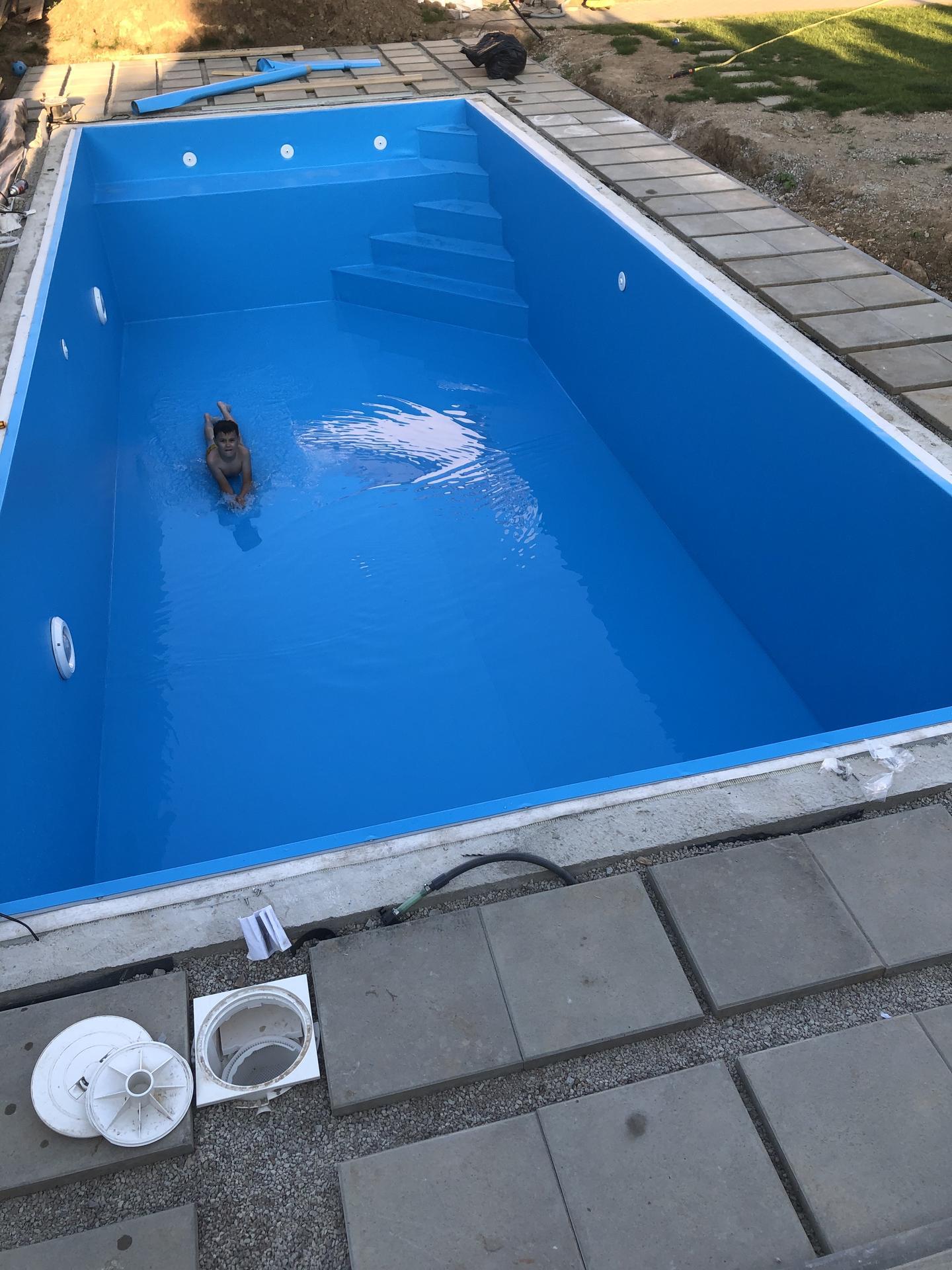 murovany bazen 9x4 svojpomocne - Obrázok č. 6