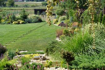 Fotene dnes,nesla den zavlaha a uz je to vidno na trave aka je sucha.