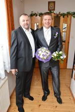 ženich se svým tatínkem