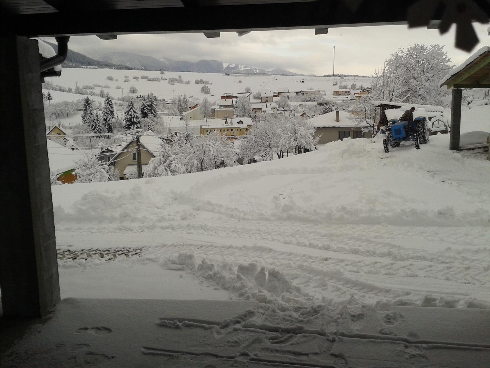 Domček na kopčeku - takato snehová nádhera je u nás
