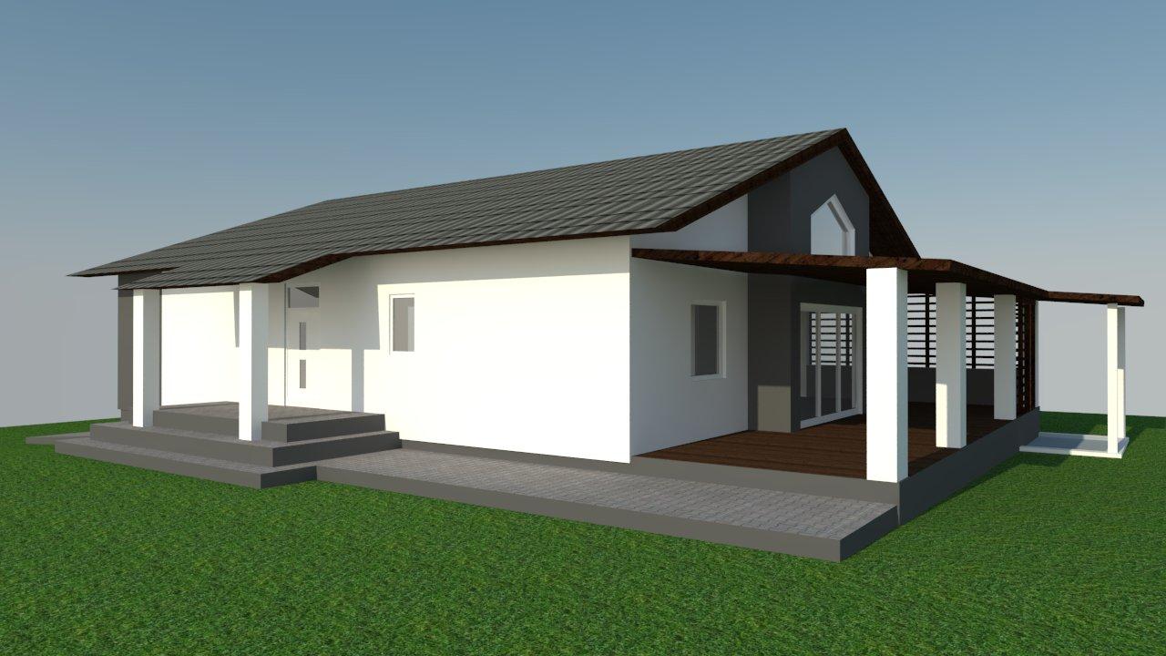 Domček na kopčeku - vizualizacia fasady