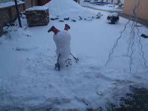 inspirace z MS, loni (předloni) byl u nás taky sníh ...