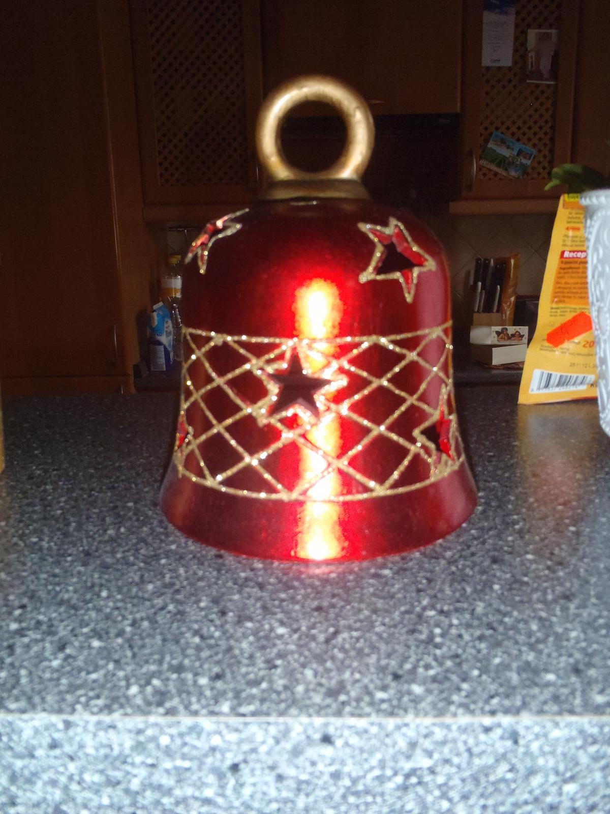 Vánoce 2012 - Zvoneček - lampička na čajovou svíčku
