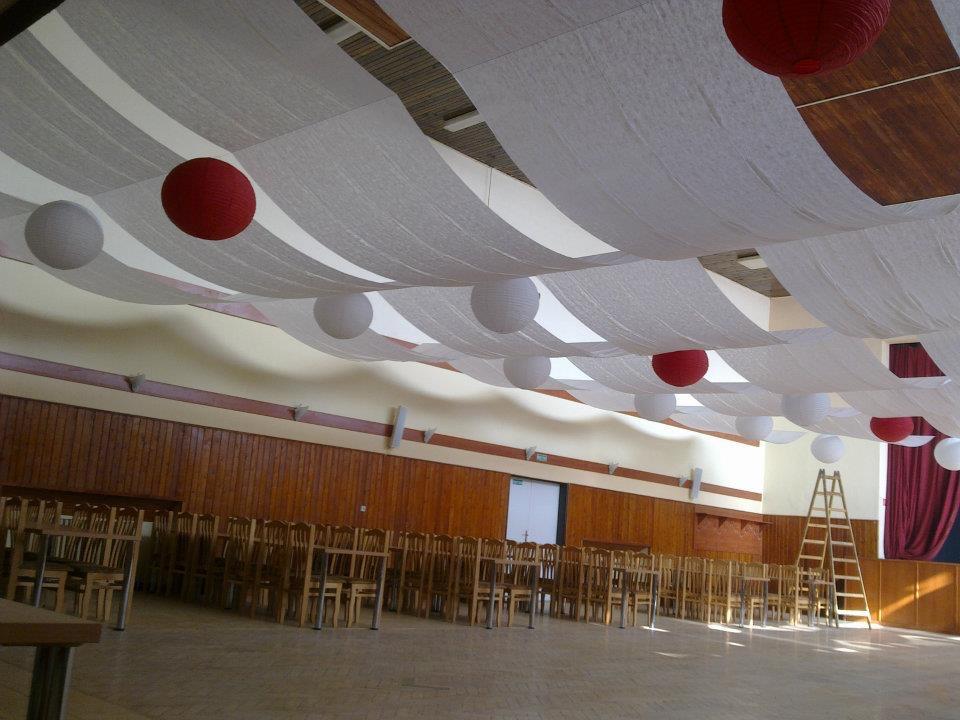 Výpredaj produktov z našich výzdob - Červené lampióny 60cm priemer, 8ks