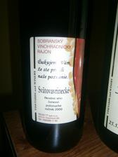 naše vínečko už máme doma etiketa zo zadu...