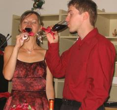 prípitok novomanželov