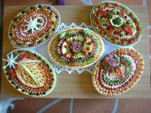 přemýšlím o přesně takto udělaných talířích na večerní raut ..