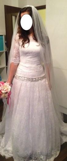 Romantické čipkované svadobné šaty - Obrázok č. 1