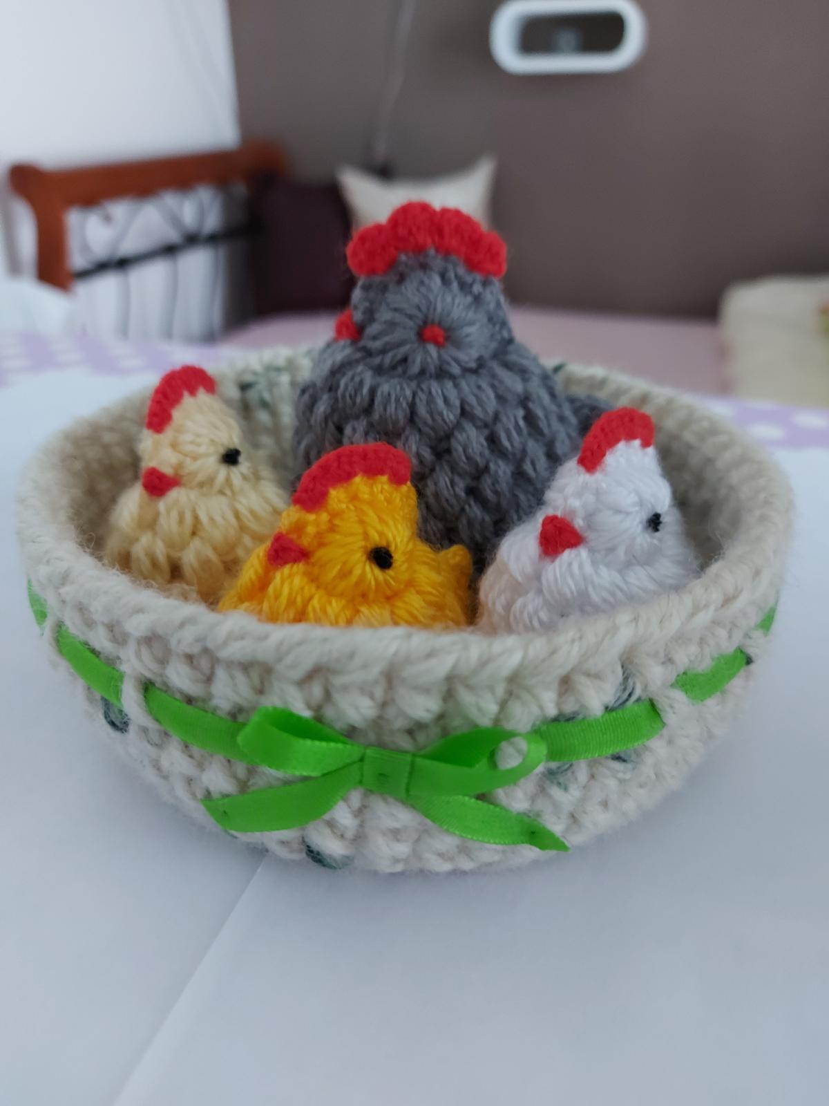 Veľká noc - vajíčko, kuriatko, zajačik, košíček - Obrázok č. 1
