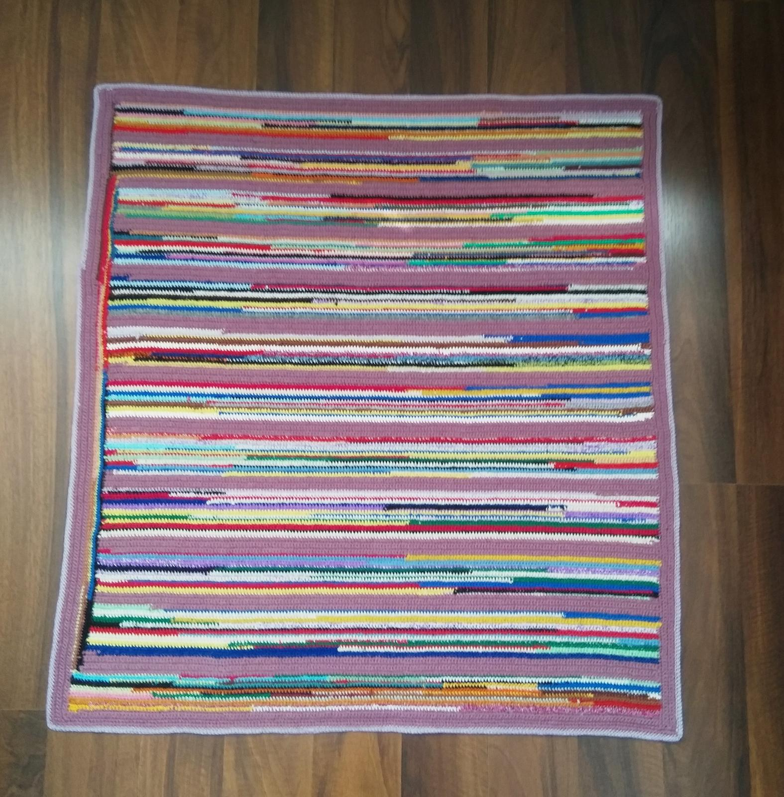 Háčkovaný koberec - Obrázok č. 1