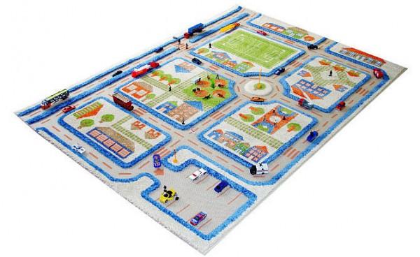 Autíčkový pokoj pro syna - 3D carpet childern