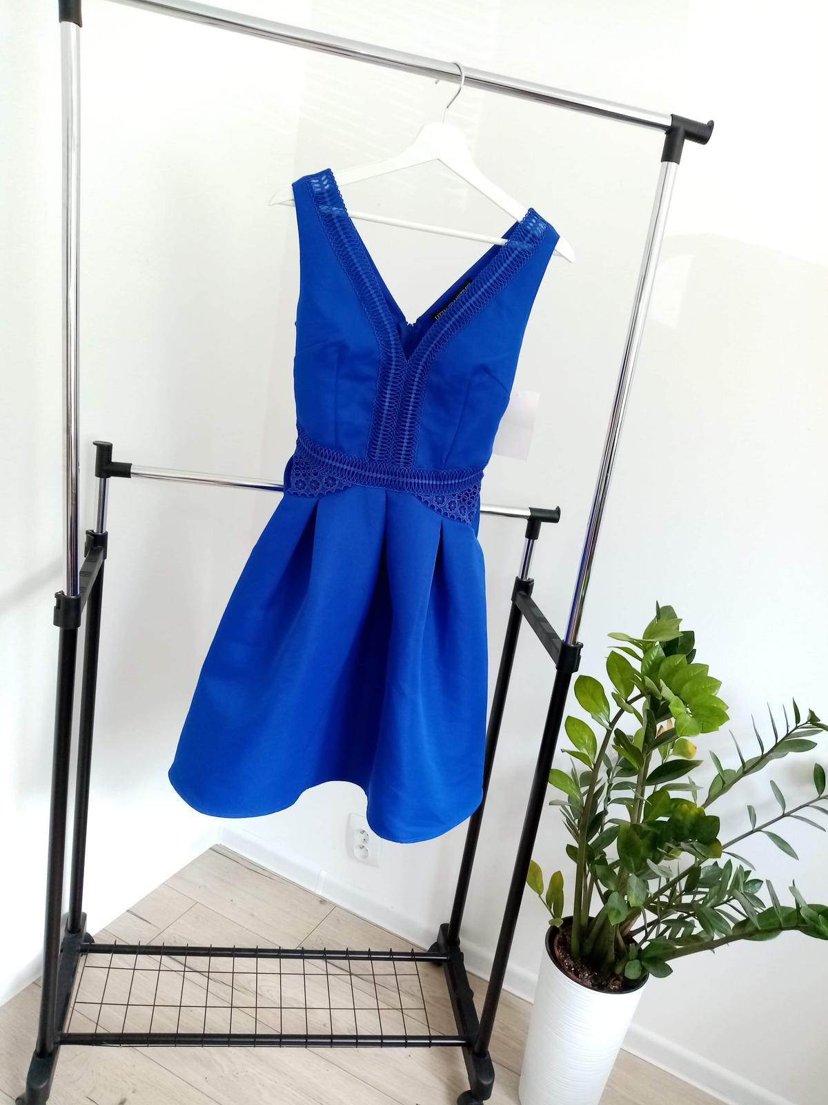 Modré krátke šaty - Obrázok č. 1